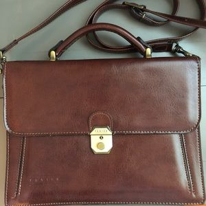 Texture Briefcase Vintage